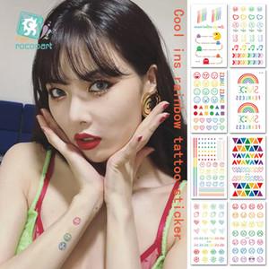 Beauty & Health Rocooart Hyuna Expression Tattoo Sticker Hand Lovely Body Art Fake Tatoo Rainbow Temporary Waterproof Taty 10.5x6cm 5-7days