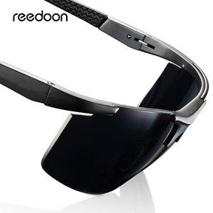 Reedoon Polarized Óculos De Sol Hd Lens Uv400 Armação De Metal Masculino Óculos de Sol Marca Designer de Óculos De Condução Para Os Homens De Pesca Esporte C19041901