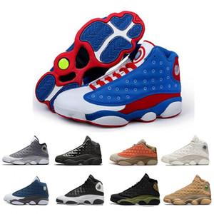 2019 13s Captain America Mens Basketball Shoes Atmosfera Cap cinza e vestido Bred Black Cat 13 Atletismo Esportes desenhista calça o tamanho 40-47