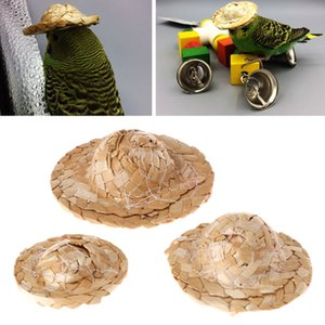 Newest Handmade Straw Woven Hat Adjustable for Parrot Birds Head Accessories Fashionable Pet Toy Bird Supplies