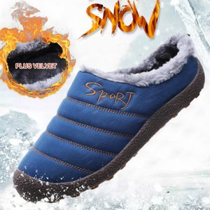 WEH pantofole uomini invernali scarpe calde Pantofole maschi al coperto per gli uomini breve peluche diapositive Mules Scarpe uomo a casa
