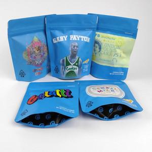 Sacs biscuits céréales Gelatti lait Gary Payton Mylar Sacs sécurité enfants Stand Up Pouch Smell Sacs preuve Contenir sec Herb Fleurs Haute