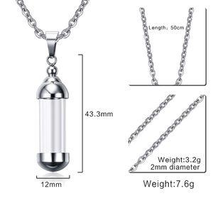 Küller Açılabilir Konteyner Vial Tüp Kolye için 3adet Clear Glass kremasyonu Takı Urn kolye