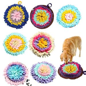 Dog Rodada Sniffing Formação Mat Dog lavável enigma Formação Blanket Pet Multicolor congestão nasal esteira do treinamento