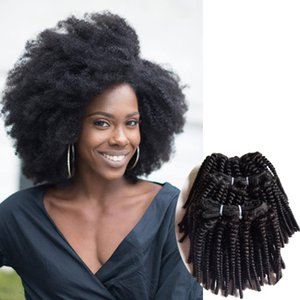 Funmi curly Brazilian Human Hair weave sexy hair extension best price Afro kinky curly Natural black Indian remy Human Hair double weft