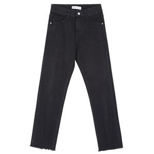 LEIJIJEANS New Autumn Casual Black Jeans Plus Size L Classical Denim Full Length Loose Straight Jeans Mid Waist Women 7306