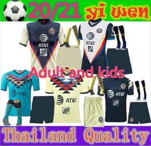 Yetişkinler ve çocuklar LIGA MX 2020 2021 Club America Soccer Formalar Deplasman UNAM Guadalajara Chivas kiti Jersey 20 21 Tigres UANL Futbol Gömlek