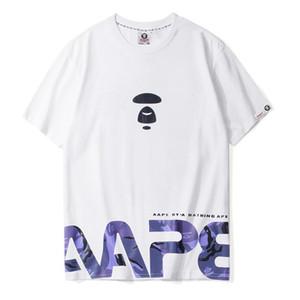 Brand New AAPE-T-Shirt Tierdruck mit kurzen Ärmeln Paare reine Baumwolle Rundhals mit kurzen Ärmeln Herren Designer Mode-Druck-T-Shirt 4 co MJK6