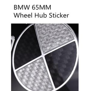 4шт высокого качества 3D углеродного волокна черный белый колеса автомобиля наклейки Hub 65мм для BMW 3 5 7 X1 X3 X5 X6