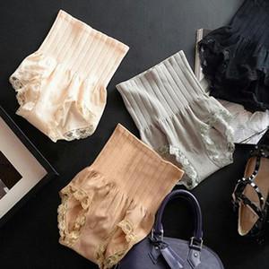 Nouvelle taille haute Lady Body Shaper Sous-vêtements Brief plastron ventre culotte en dentelle amincissants mode 4 couleurs