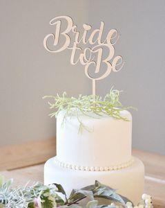 Ahşap Gelin Kek Topper Gelin Ahşap Kek Topper Akrilik Rustik Düğün Dekorasyon Duş Olacak