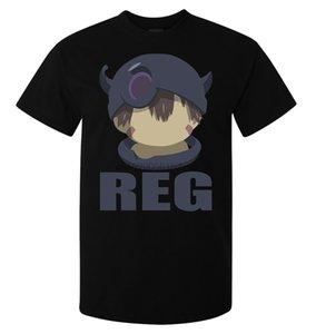 Made In Abyss Reg Minimalistic Homens (mulher Disponível) Camiseta Qualidade Preto (1)