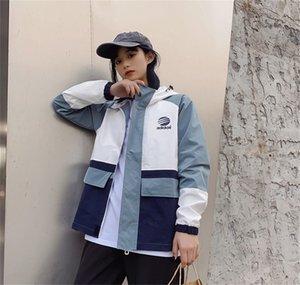 Spring and autumn Korean ins Harajuku harbor style BF loose casual baseball coat jacket windbreaker trend