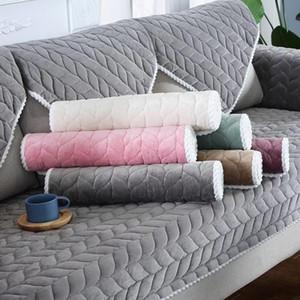 Addensare peluche del sofà del tessuto Pizzo copertura antiscivolo Slipcover copertura di sede Couch europea sofà stile asciugamano per Living Room Decor