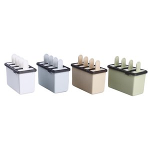 4Pcs Ice Cream Popsicle Molds Food Grade Ice Cream Makers Rectangle Shaped Reusable DIY Frozen Ice Cream Pop Baking Moulds
