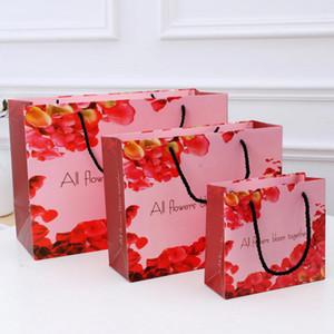 Новые поставки события подарочная упаковка Валентина розовая красная бумага подарочные пакеты День Рождения поставки партии / подарочная упаковка / сердца бумажная коробка партия поставок