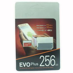 2019 le produit lastest 128Go 64Go 32Go EVO PLUS carte Micro SD TF 256 Go UHS-I Class10 carte mémoire mobile DHL