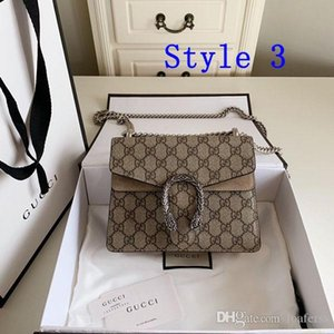 The Women package crossbody classic bag fashion single shoulder bag Snake head Printed real leather england style chain bag shoulder bags