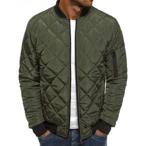 Zogaa Men Autumn Jacket wind breaker casual Plaid Parka men solid color brand overcoat men thick warm clothes Zipper Jackets