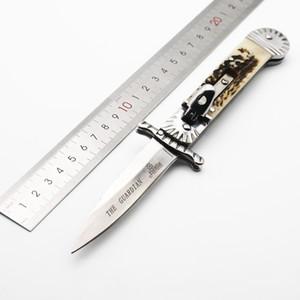 Hubertus Solingen patronu vasi 8.5inch Boynuz kolu tek eylem taktik kendini savunma katlama EDC bıçak kamp bıçak av bıçağı