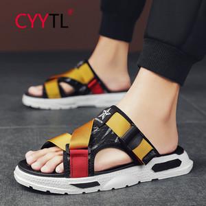 CYYTL Лето Мужчины Тапочки Повседневный Желтые ботинки Нескользящие Слайды ванной сандалии мягкой подошвой Вьетнамки Женщины Слайды Pantuflas