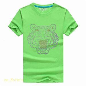 Bright diamond Summer Designer Shirts For Men Tops Tiger Head Letter Embroidery T Shirt Mens Clothing Brand Short Sleeve Tshirt Women A13A