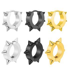 Korean version of punk rivet tips, tapers, titanium ear buckets, male stainless steel piercing, individual ring earrings