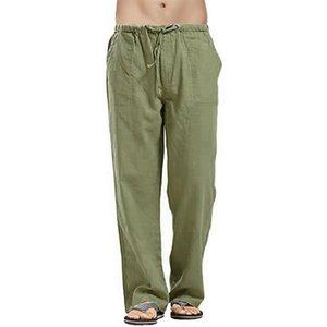 Pantalons Homme Printemps Automne cotonnades Baggy sarouel Yoga en vrac Linen Pantalons simple Pantalons