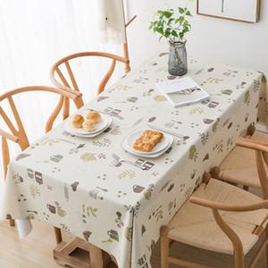 La nueva manera impermeable mantel de tela de PVC de té Mantel impermeables accesorios a prueba de aceite Placa de cocina envío