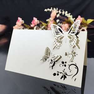 Table Name Place Cards Wedding Party Favor Decor Butterfly Laser Cut Design 90 x 120mm 90 x 90mm