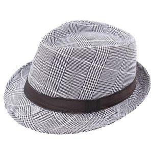 SAGACE Hat Men Unisex Patchwork Print Trilby Gangster Beach Sun Straw Hat Band Sunhat Ladies Casual Adjustable Comfortable Cap