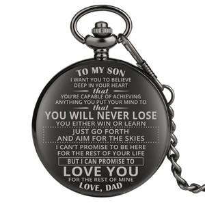 Creativo design personalizzato Orologio da tasca AL MIO catena di quarzo analogico Orologi Ciondolo Son Dad uomo Marito regalo di natale a Man Reloj de bolsillo