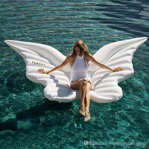 Neue 250x180CM Aufblasbare Schwimmflügelform Schwimmdock Beach Hammock Lounge Bed Pool Chair Pool Spielzeug für Erwachsene Float Float