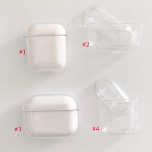 PC Temizle Sert Kılıf Şeffaf Koruyucu Kapak Apple Airpods Kablosuz Bluetooth Kulaklık Bırak geçirmez Desen Kulaklık Kapak en kaliteli