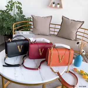 Diseñador-2019 de la venta caliente para el monedero de la mujer Bolsa de hombro de cuero genuino de las mujeres bolsos de los bolsos de las mujeres VIRTUS Crossbody bolso de los bolsos cartera