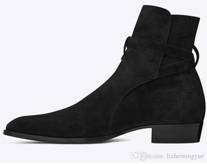 Os mais recentes Super Star Men couro reais Hot ocidental Cowboy Botas Casual Shoes Outono Mid-bezerro botas de motociclista Shoes Homens Botas