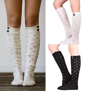 Kadınlar Kış Yumuşak Kablo Örgü Üzeri diz Uzun Boot Uyluk Yüksek çorap Leggings Isınma