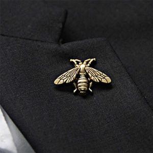 النساء الرجال خمر العتيقة مجسمة معدنية لطيف النحل الحشرات الحشرات الدبابيس الدبابيس دبابيس حزب الملحقات والمجوهرات