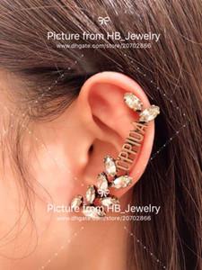 marchio di moda orecchini hanno francobolli cristallo cc del progettista per le donne gioielli donna impegno lusso amanti regalo di nozze per la sposa del partito con la SCATOLA