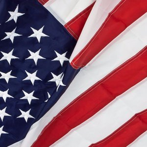US. USA.American Embroidered Flag 2'x3' or 3'x5' or 4'x6' FT Nylon flag Sewn Stripes Stars Grommets - Indoor Outdoor