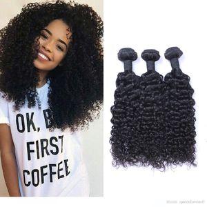 Malaysain Jerry Curl 100% non trattati umani vergini tessono capelli 8A qualità di Remy dei capelli estensioni dei capelli umani umani tesse tingibili 3 fasci