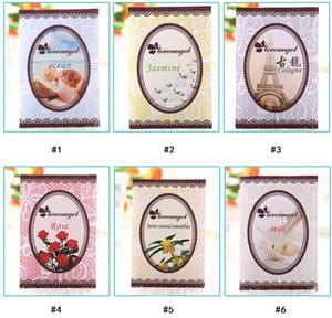 Novo Natural multi-funcional saquinho de purificadores de ar para casas carro mini saco de perfume diferentes fragrâncias sacos Rose Lemon Violet Frete grátis
