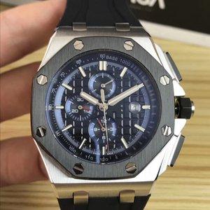 New Fashion Luxury 42mm Mens Mechanical Automatic Wovement Watches Black Rubber Strap Men Sports Watch Wristwatches