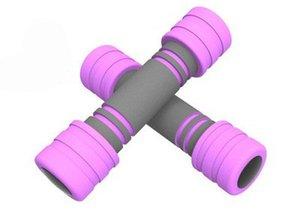 1PCS 1KG Início senhoras esportes espuma halteres leves braço fino haltere conjunto halteres fixos equipamentos de ginástica