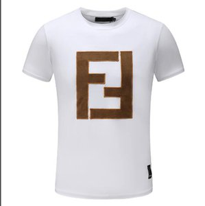 Diseño de la nueva marca camisetas ocasionales camiseta de los hombres camisetas novedad de la manera linda de lujo del bordado de Ojos FF Camisetas para hombre de las camisetas de las mujeres Streetwear