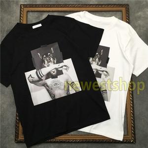 2020 neue Mens-Qualitäts-Geometrie-T-Shirt für Männer Designer-T-Shirts T-Shirt Hundekopf-Montage Druck T Shirts unsex Baumwolle T-Shirt Druck