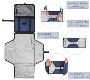 Portable Diaper Changing Pad enfant en bas âge imperméable Sac d'embrayage Table à langer bébé Voyage Diaper Mat Kit