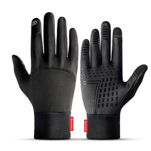 Hot Sale Winter Outdoor-Sport-laufende Handschuh Warm Touch Screen-Gymnastik-Eignung-volle Finger-Handschuhe für Männer Frauen Strick Magic Gloves