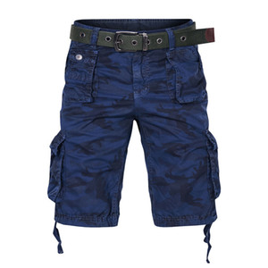 Mens Cargo-Shorts Sommer-Hosen-Taschen-Armee Camo Bermuda Male knielangen Baumwollkleidung Camouflage Shorts