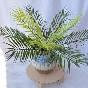 Украшения растений деревьев украшения стена искусственный завод искусственный пальмовый стебель фальшивый папоротник зеленый EAEA462 поддельная зелень растет пальма qhmov